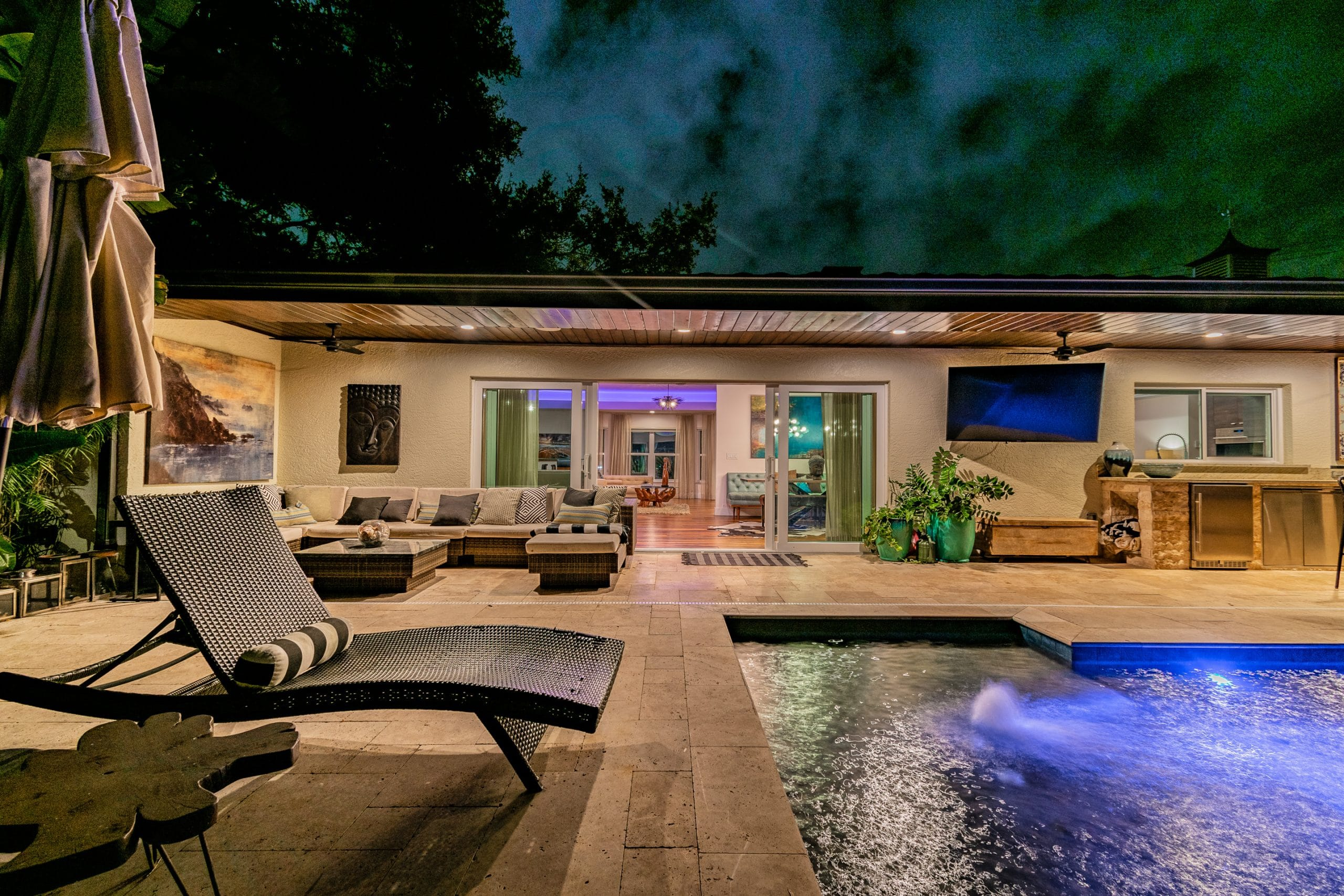 Miami real estate photography outdoor living